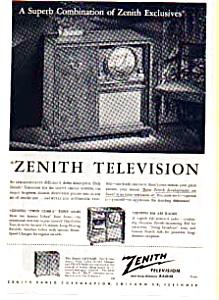 Zenith TV and Radio Phonograph Ad auc024624 1949 (Image1)
