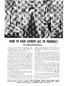 How to have Europe All to Yourself Ad (Image1)