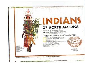 Indians Of North America Map Dec 1972