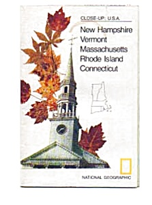 Close Up Series Map Of Nh,vt,ma,ri & Ct 1975