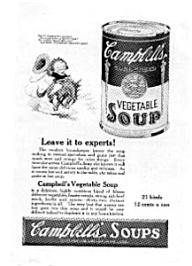Campbell's Vegetable Soup Ad 1922