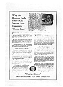 Grape Nuts Ad Mar 1922