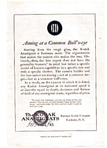Kodak Anastigmats Lens Ad Mar 1922 (Image1)