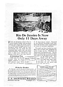 Munson Steamship Lines Rio Cruise Ad auc032213 (Image1)