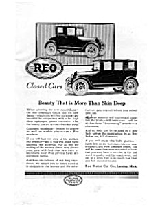 Reo Closed Cars Ad