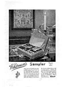 Whitman's Sampler Candy Ad 1922