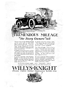 Willys Knight Tremendous Mileage