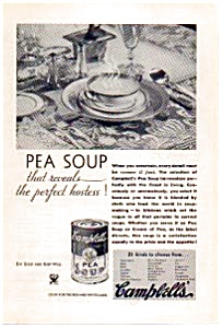 Campbell's Pea Soup Ad 1934