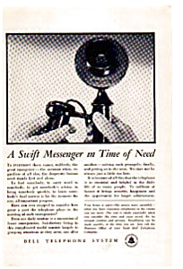 Bell Telephone Swift Messenger Ad Auc033413