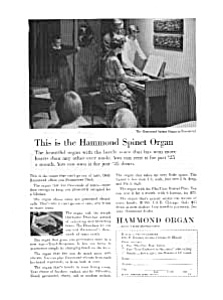 Hammond Spinet Organ Ad Mar 1961 (Image1)