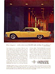 1961 Lincoln Continental Ad