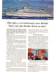 P & O Orient Lines Canberra Ad (Image1)