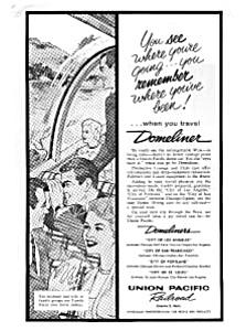 Union Pacific RR Domeliner Service Ad auc046122 (Image1)