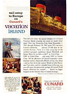 Cunard Vacation Island Ad Nov 1961 (Image1)
