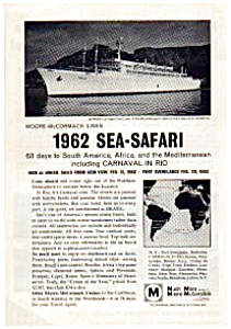 Moore-McCormack 1962 Sea-Safari Ad Nov 1961 (Image1)