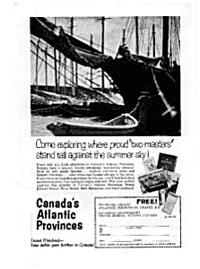 Canada's Atlantic Provinces Travel Ad 1963 (Image1)