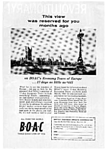 BOAC Economy Tours to Europe  Ad Nov 1961 (Image1)