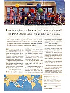 P and O Lines Run Away to Sea Ad auc058 1960 s (Image1)