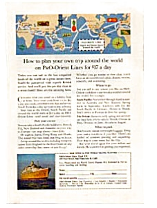 P & O Lines Trip Around the World Ad 1960's (Image1)