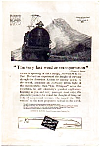 Chicago, Milwaukee And St. Paul Railroad Ad 1