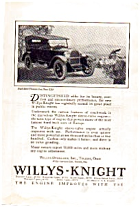 1923 Willys Knight Automobile Ad auc062313 (Image1)