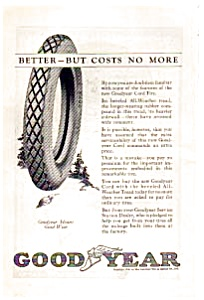 Goodyear Cord Tire Ad 1923 (Image1)