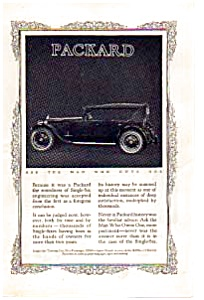 1923 Packard Single Six Automobile Ad