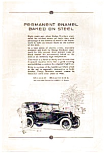 Dodge Automobile Baked on Enamel Ad (Image1)