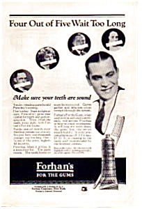 Forhan's Formula for the Gums Ad 1923 (Image1)