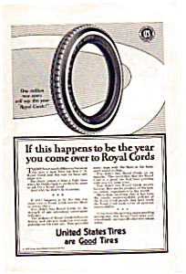 United States Rubber Co Royal Cord Tires Ad auc062329 (Image1)