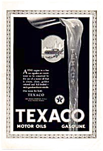 Texaco Motor Oil Ad 1923 (Image1)