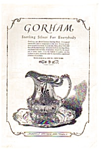 Gorham Sterling Silver Ad 1923 (Image1)