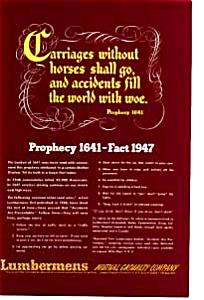 Lumbermen s Auto Prophecy of 1641 Ad auc093515 (Image1)