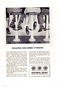 National Dairy Products Ad Saddle Shoes