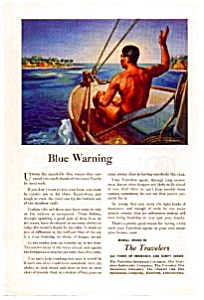 The Travelers Blue Warning Ad (Image1)