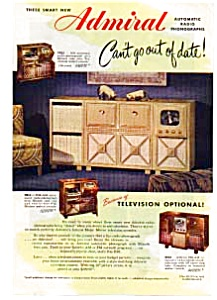 Admiral Brand TV Ad Sep 1948 (Image1)
