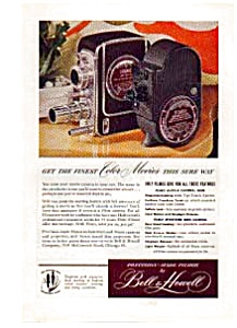 Bell & Howell Movie camera Ad Sep 1948 (Image1)