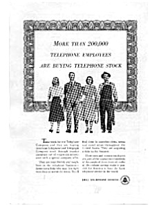 Bell Telephone Employees Buying Stock Ad Auc094805