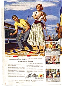 Matson Cruise to Hawaii Ad (Image1)