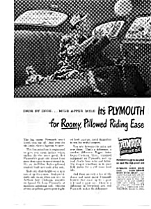 1948 Plymouth Roomy Riding Ease Ad