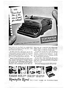 Remington Rand Deluxe Portable Typewriter Ad (Image1)