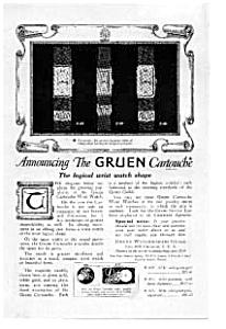Gruen Cartouche Watch Ad auc101207 Oct 1921 (Image1)