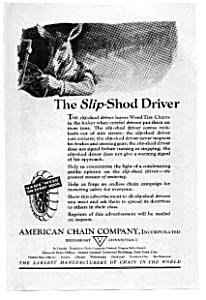American Chain Slip Shod Driver Ad auc102101 (Image1)