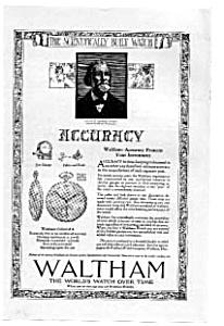 Waltham Watch Ad Oct 1921 (Image1)