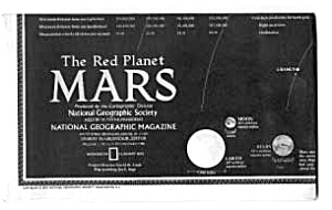 The Red Planet Mars National Geographic Map