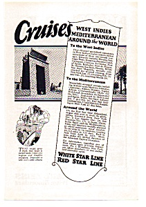 White Star Cruise Line Ad 1924 (Image1)