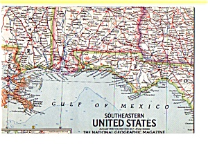 Southeastern United States Map Jan 1958