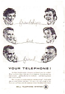 Bell Telephone System Friendships Ad Auc116003
