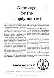 Rock of Ages Barre VT Ad Nov 1960 (Image1)