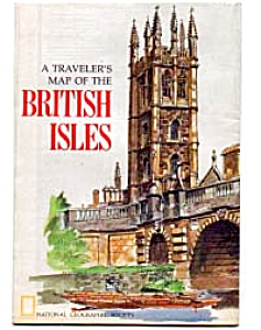 Travelers Map Of The British Isles Apr 1974